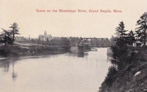 GRAND RAPIDS, Minnesota, 1900-1910's; Scene On The Mississippi River