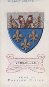 Wills Vintage Cigarette Card Arms Of Foreign Citys No. 37 Versailles 1912