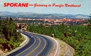 WA - Spokane. Panoramic View