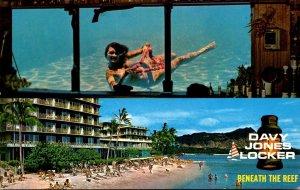 Hawaii Waikiki Reef Hotel Davy Jones Locker Cocktail Lounge