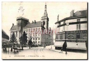 Old Postcard Angouleme The Hotel de Ville