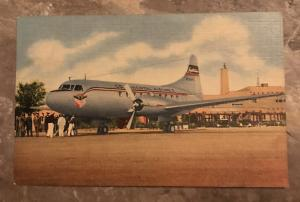1950's Continental Airlines  Postcard