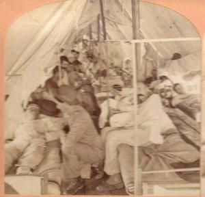 Philippine Americano Guerra Estereoscopia Fotografía Army Hospital Manila 1900