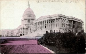 United States Capitol, Washington, D.C. colorized early 1900's postcard