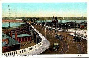 Maine Portland The Portland Bridge 1929 Curteich