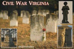 Spotsylvania VA, Civil War Battlefield, Confederate Monument, Cemetery, Union