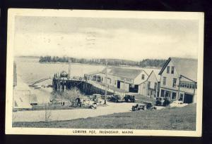 Friendship, Maine/ME Postcard, Lobster Pot Restaurant, 1939!