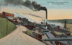 GREAT FALLS , Montana, 1900-10s ; B.&M. Copper Smelter