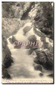 Old Postcard Environs de Grenoble Gorges Tenein