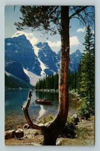 Alberta- Canada, Moraine Lake, Banff Natl Park, Chrome c1963Postcard