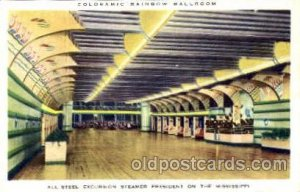 Coloramic Rainbow Ballroom, Mississippi, USA Ballroom Dancing Postcard Post C...