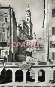 Modern Postcard The riviera 920 chin church Saint Michel sight of the dock Bo...