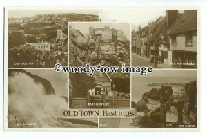 tq1074 - Multiview x 5, of Various Views around the Old Town Hastings - postcard