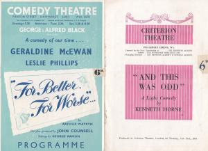 And This Was Odd Kenneth Horne Carry Of Film Comedy 2 Theatre Programme
