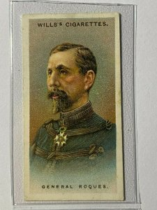 CIGARETTE CARD - WILLS ARMY LEADERS #09 GENERAL ROQUES     (UU231)