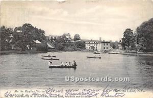 On the Rippling Waters Kenoza Lake NY 1908