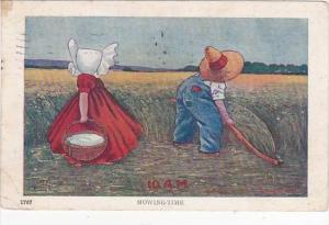 Sunbonnet Girl 10 A M Mowing Time 1907