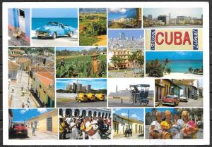 2008 Cuba, multiple views, mailed to Italy