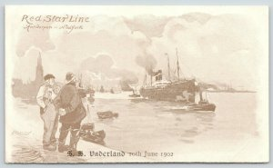 Red Star Line~Antwerp-New York~SS Vaderland~June 10th 1902~Cassier Artist Signed