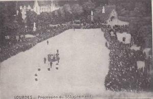 France Lourdes Procession du St Sacrament 1928