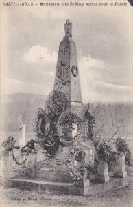 SAINT AIGNAN, Loir Et Cher, France, 1900-1910's; Munument Des Soldats Moris P...