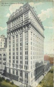 St Louis Missouri~New Bank of Commerce Building~Post Dispatch~Trolley~1908 PC
