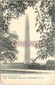 Old Postcard Washington DC Washington Monument