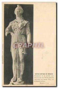 Old Postcard Ancient Statue minevre