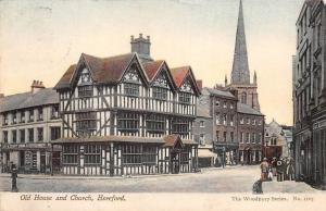 England Hereford, Old House and Church, The Woodbury Series 1908