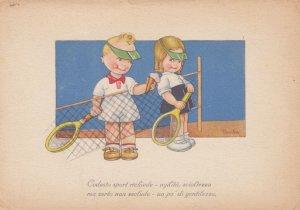 Artist Tomba ; Tennis Couple , 1920-30s