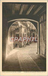 Postcard Old Alsatian Museum Court Entree