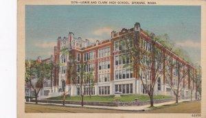 Washington Spokane Lewis and Clark High School 1940 sk5299