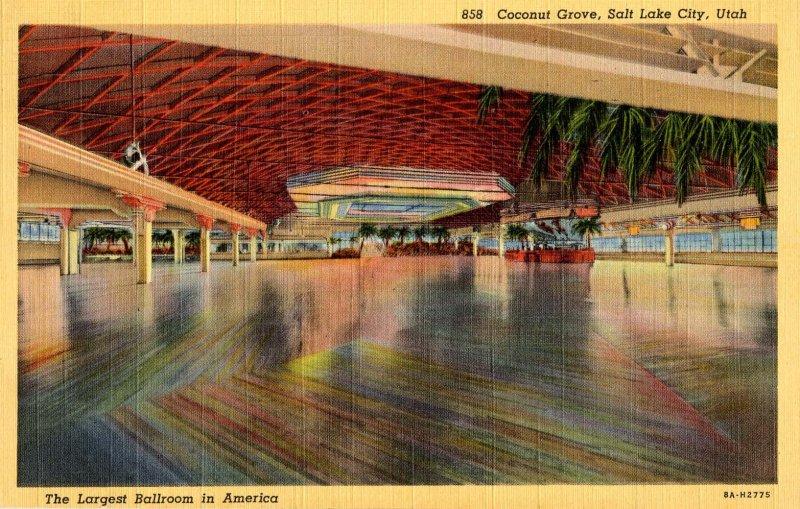UT - Salt Lake City. Coconut Grove, Largest Ballroom in America