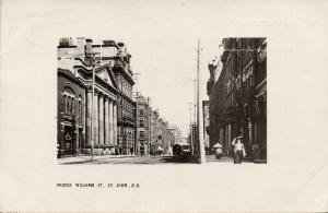 canada, St. JOHN, N.B., Prince William Street (1908) RPPC