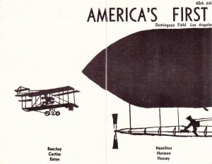 Set of 4 Commemorative PCs Form Early Airship Blimp, 60th Anniversary America...