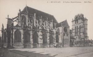 Beauvais L'Eglise Saint Etienne Church Antique French Postcard