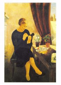 Postcard Art THE MANICURE (1930) by Christopher Wood MU2240 #91