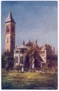 Early Greetings OILETTE Post Card, The Church, Cawnpore, (India), Raphael Tuck