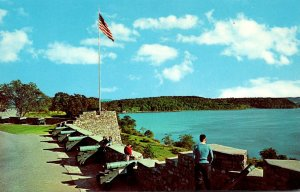 New York Fort Ticonderoga Main Flag Bastion Overlooking Lake Champlain