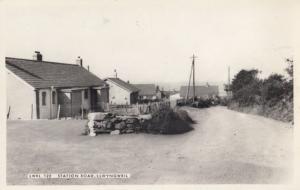 Station Road Llwyngweil Old Welsh Real Photo Postcard