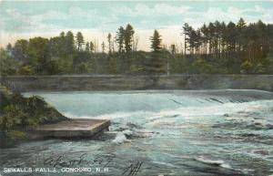 Concord New Hampshire~Sewalls Whitewater Falls~1907 Postcard