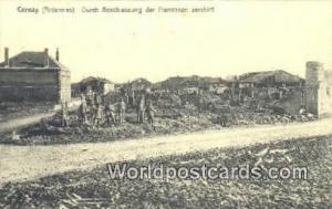 Cernay, France, Carte, Postcard Durch Beschiessung der Franzosen zerstort Cer...