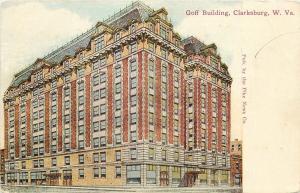 Clarksburg West Virginia~Goff Building~Mansard Roof~Artist Drawn~Pike News 1908
