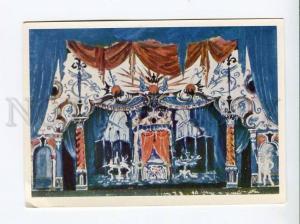 271668 USSR Dobuzhinsky sketch scenery opera Prokofiev Love Three Oranges 1966
