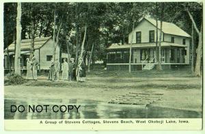 Stevens Cottages, Stevens Beach, West Okoboji Lake Iowa