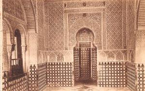 Spain Old Vintage Antique Post Card Alhambra, Interior de la Mezquita Granada...