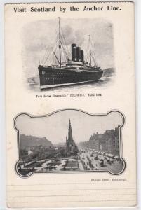 Visit Scotland, Anchor Line, Steamer Columbia