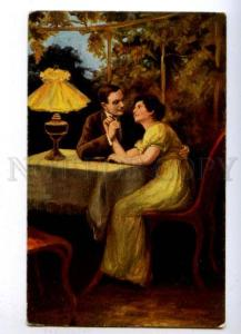 176540 Illuminated Lovers Evening by WALDAUER Vintage PFB PC