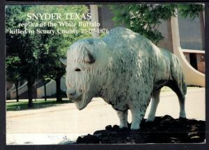White Buffalo Statue,Snyder,TX BIN