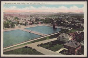 Reservoir,Lawrence,MA Postcard